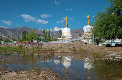 Lamas Photograph - India, Jammu & Kashmir, Ladakh by Ellen Clark