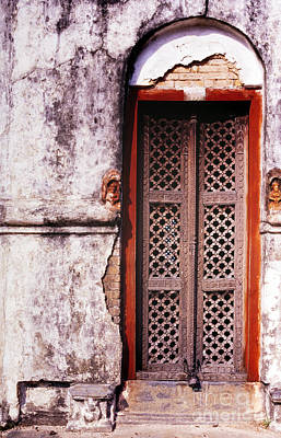 Weathered Wood Photograph - Indian Doorway by Tim Hester