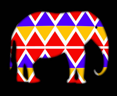 Digital Art - Indian Elephant by Charles Stuart