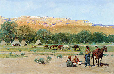 Indian Encampment Art Print by Henry Farny