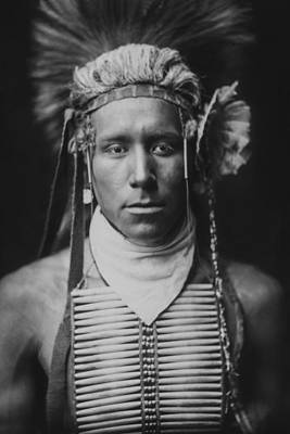 Young Man Photograph - Indian Of North America Circa 1905 by Aged Pixel