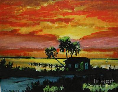 Painting - Indian River Sunset by Bill Hubbard