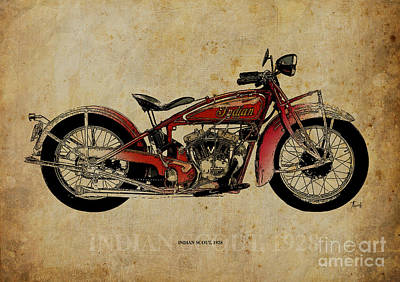 Indian Scout 1928 Art Print