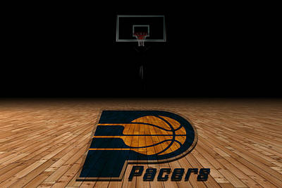 Indiana Pacers Art Print by Joe Hamilton