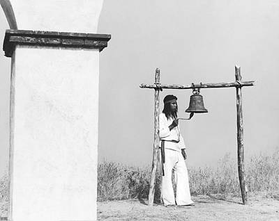 Missions California Photograph - Indians Building Missions by Underwood Archives Onia