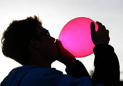 Euphoria Photograph - Inhaling Nitrous Oxide From A Balloon by Cordelia Molloy