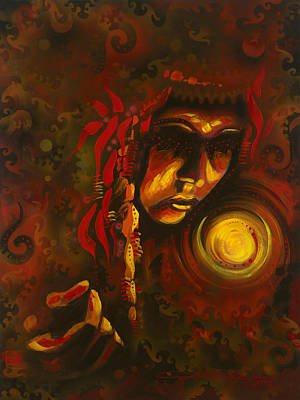 Indian Tribal Women Painting - Inner Circle by Alicia Hayes