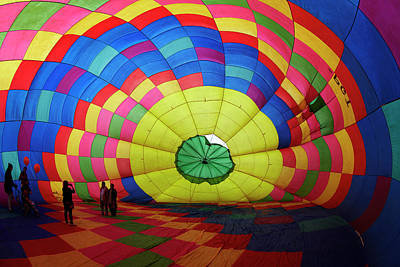Hot Air Balloon Photograph - Inside A Hot Air Balloon, Balloons by David Wall