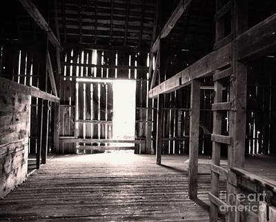 Art Print featuring the photograph Inside An Old Barn by John S