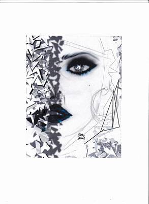 Art Print featuring the drawing Insight by Desline Vitto