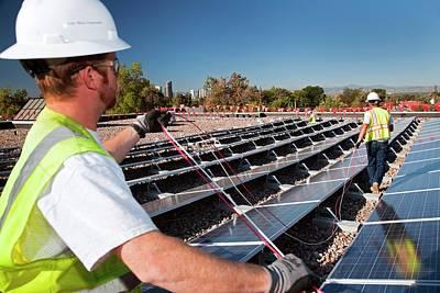 Installing Solar Panels Art Print
