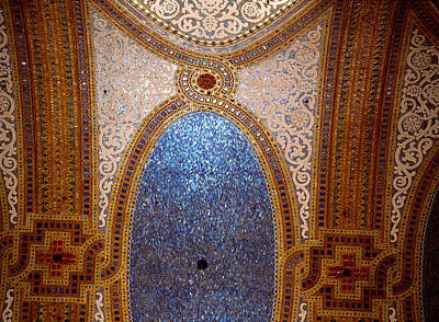 Tiffany Photograph - Interior Detail Of Tiffany Dome by Panoramic Images