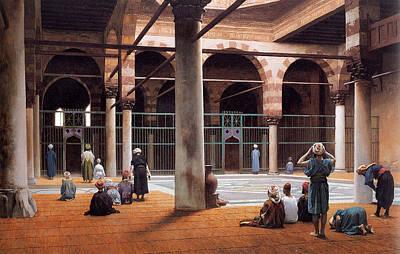 Jean-leon Gerome Painting - Interior Of A Mosque by Jean-Leon Gerome