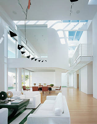 Photograph - Interior Of Modern Living Room by Scott Frances