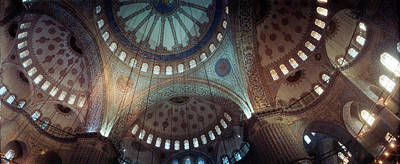 Interiors Of A Mosque, Blue Mosque Art Print by Panoramic Images
