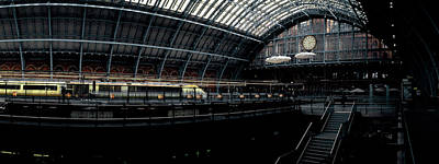 Railroad Station Photograph - Interiors Of A Railroad Station, St by Panoramic Images