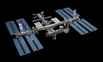 International Space Station Photograph - International Space Station by Carlos Clarivan