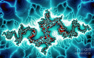 Deep Space Art Painting - Intersting Fractal Forms by Odon Czintos