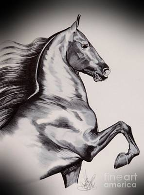 Into The Wind - Saddlebred Art Print by Cheryl Poland