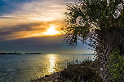 Art Print featuring the photograph Intracoastal Sunrise by Frank Bright