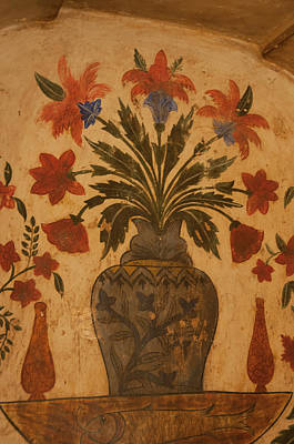 Tomb Photograph - Intricate Frescoes, Tomb by Inger Hogstrom