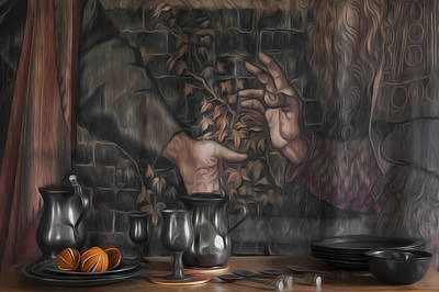 Table Wine Photograph - Invitation by Svetlana Sewell