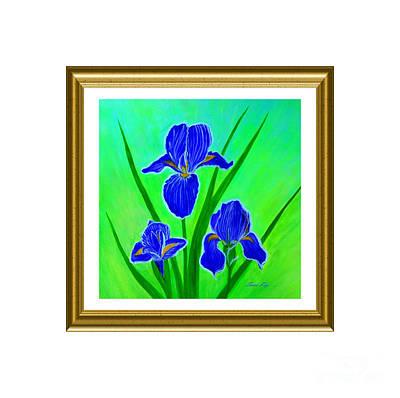 Painting - Iris Flowers. Inspirations Collection by Oksana Semenchenko