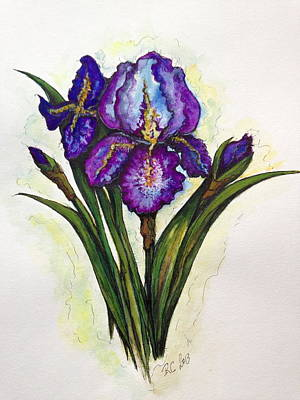 Painting - Irises by Rae Chichilnitsky
