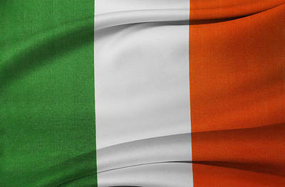 Irish Flag Art Print by Les Cunliffe