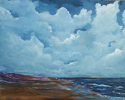 Beach Painting - Irish Sky by Conor Murphy