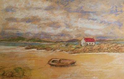 Painting - Isle Of Barra Mooring by Joan-Violet Stretch