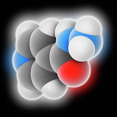 Isoniazid Drug Molecule Art Print