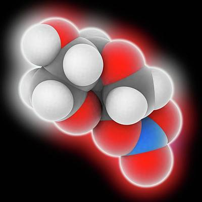 Isosorbide Mononitrate Drug Molecule Art Print by Laguna Design
