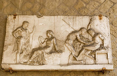 Reliefs Photograph - Italy, Campania, Herculaneum by Jaynes Gallery