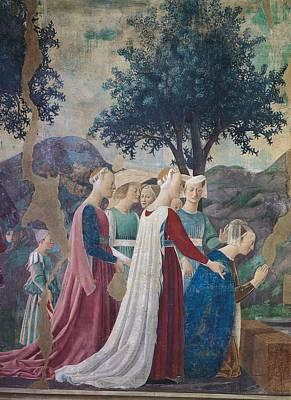 Ladies In Waiting Photograph - Italy, Tuscany, Arezzo, San Francesco by Everett
