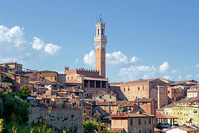 Ancient Apartments Photograph - Italy, Tuscany, Siena - The Old Town by Panoramic Images