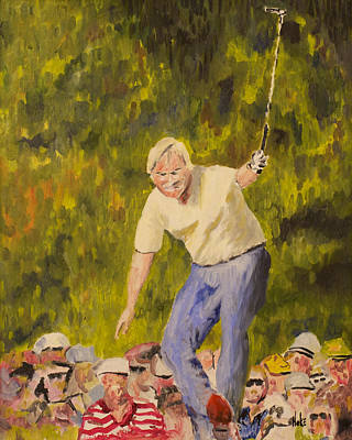 Painting - Jack At The Masters by Scott Hoke