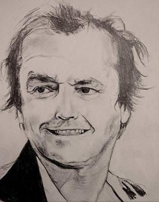 Jack Nicholson Drawing - Jack Nicholson by Mary McCusker