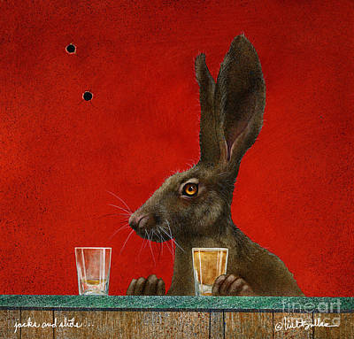 Painting - Jacks And Shots... by Will Bullas