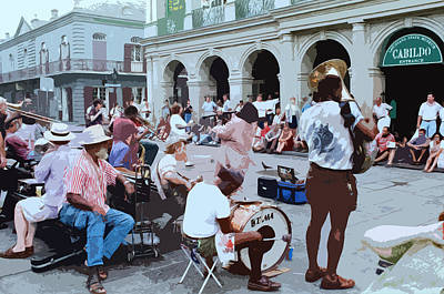 Photograph - Jackson Square Jam by Allen Beatty