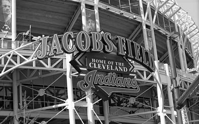 Baseball Mural Photograph - Jacobs Field - Cleveland Indians by Frank Romeo