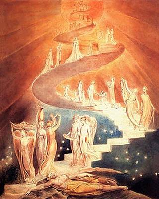 Jacobs Ladder Original by William Blake