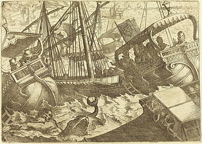 Barcelona Drawing - Jacques Callot French, 1592 - 1635, Storm Off The Coast by Quint Lox