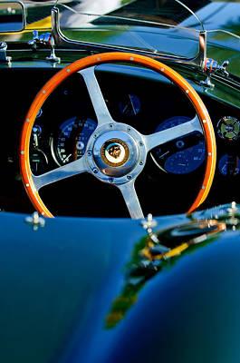 Photograph - Jaguar Steering Wheel by Jill Reger