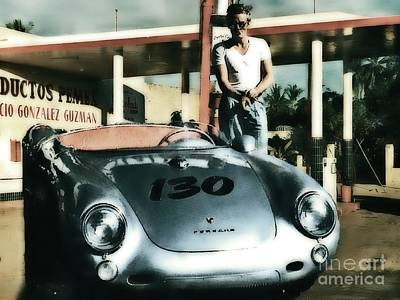 Photograph - James Dean Filling His Spyder With Gas by Doc Braham