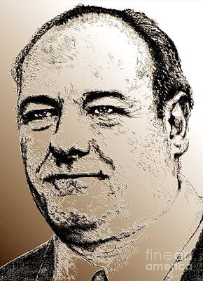 Digital Art - James Gandolfini In 2007 by J McCombie
