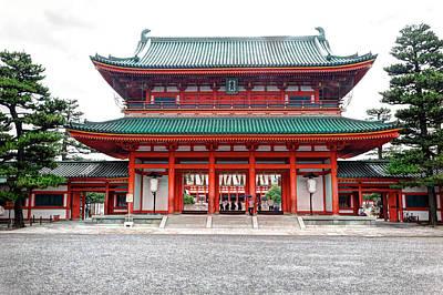 Japan, Kyoto Colorful Shinto Shrine Art Print by Jaynes Gallery