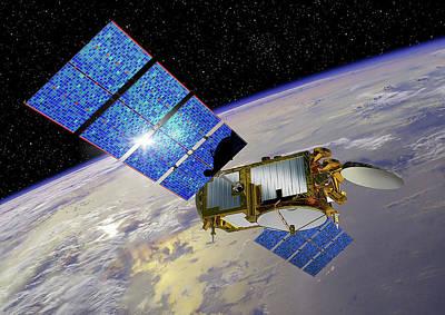 Jason-3 Satellite Print by Nasa/jpl-caltech