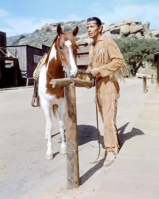 Jay Silverheels In The Lone Ranger  Art Print by Silver Screen