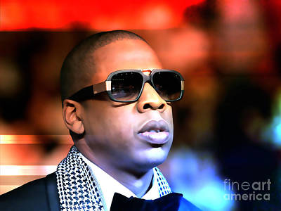 Jay Z Mixed Media - Jay Z by Marvin Blaine